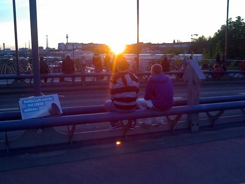 sonnenuntergang modersohnbrücke © lele | friedrichshainblog.de