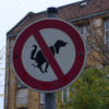 Hundehäufchen Verbotsschild © friedrichshainblog.de