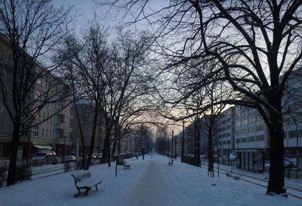 Warschauer Straße Berlin Friedrichshain im Winter © friedrichshainblog.de
