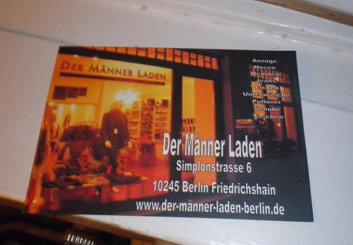 flyer männer laden berlin