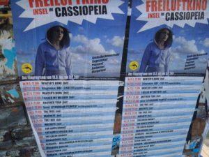"""Programm Freiluftkino Cassiopeia """"insel"""" © friedrichshainblog.de"""