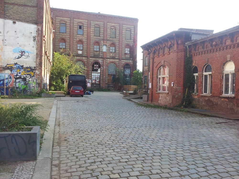 Hof des Clubs Villa Berlin Friedrichshain