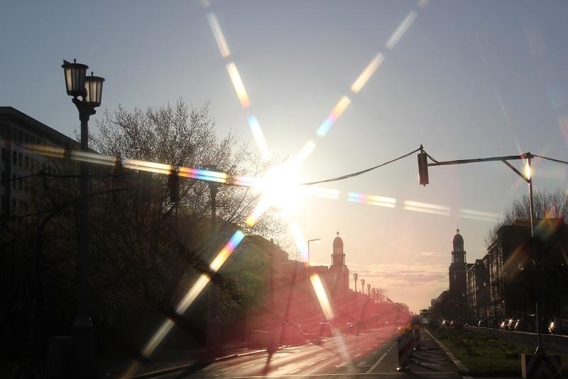 Berlin Friedrichshain Sonnenaufgang