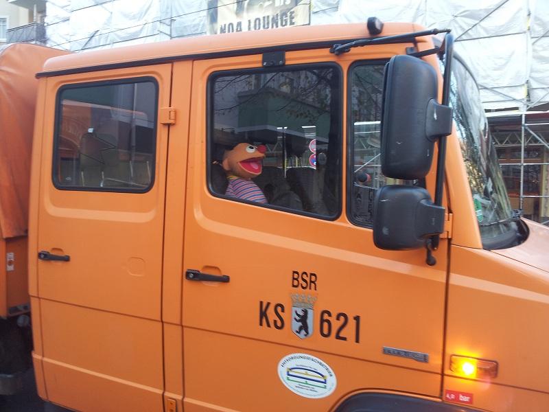 Sesamstraßen Figur BSR Wagen