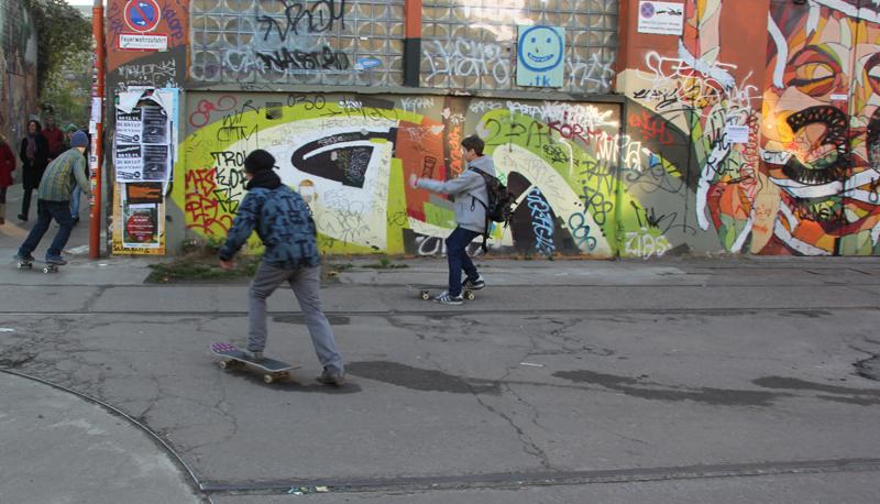Skater auf dem RAW Gelände