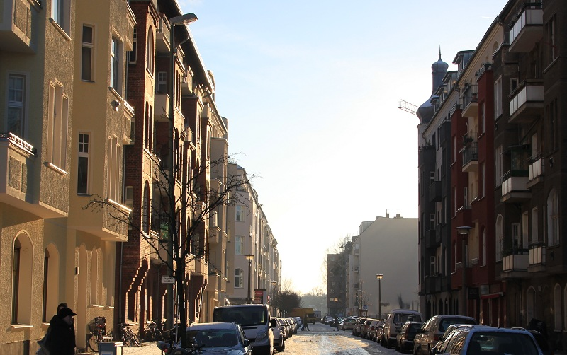 Straßenschlucht Berlin Friedrichshain