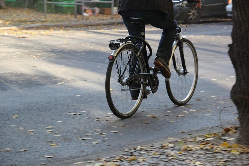 Fahrrad Fahrer in Berlin