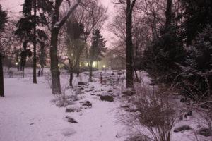 Schnee im Volkspark Friedrichshain
