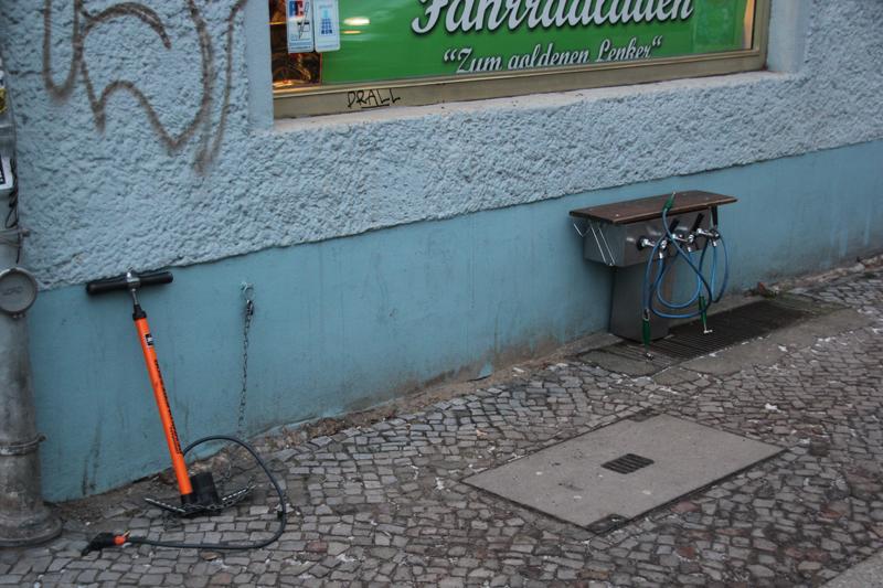 Fahrradpumpe Zapfhahn