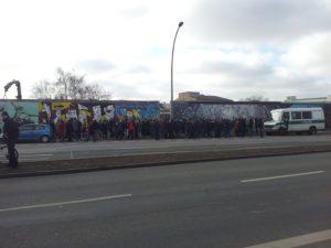 Demonstration gegen East-Side-Gallery Abbruch