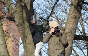 Fotografen in Bäumen