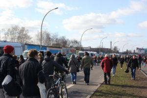 Polizei East-Side-Gallery Demo