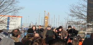 SPD Sprecherin East-Side-Gallery Demo