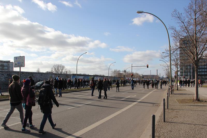 Strecke zur East-Side-Gallery Demo