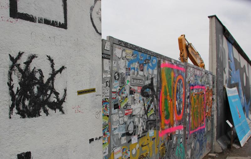 Baustelleneinfahrt East Side Gallery