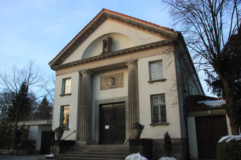 Friedhofsgebäude Friedhof Friedrichshain