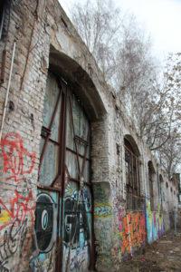 Mauer auf dem RAW Gelände