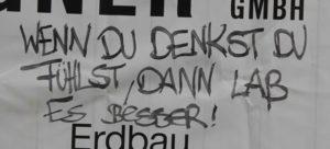 Spruch in Friedrichshain