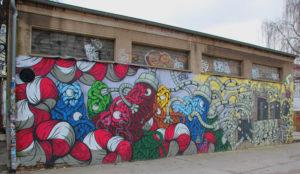 Wandgraffiti RAW Gelände