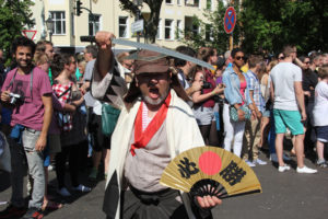 Japanischer Samurai Karneval der Kulturen 2013