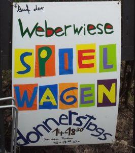 Spielwagen Weberwiese Plakat