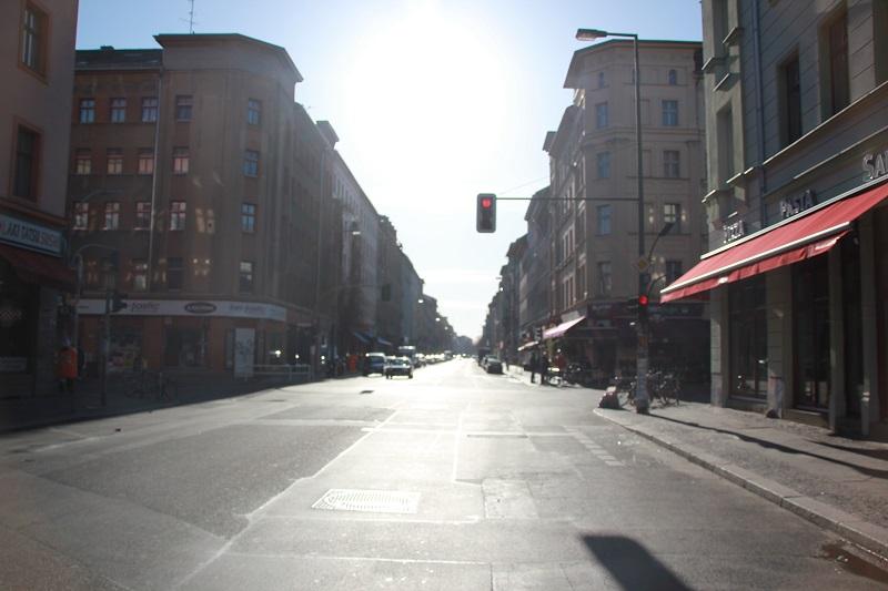 Leere Oranienstraße Kreuzberg