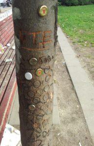 Kronkorken Baum Ostkreuz