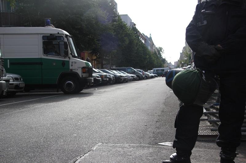 Rigaer Str Polizeiaufgebot