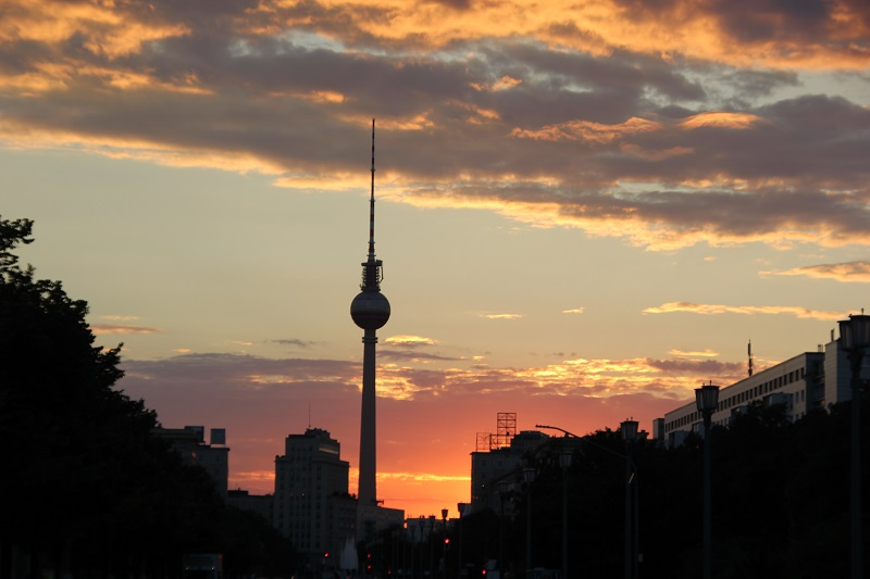 Sonnenuntergang Fernsehturm