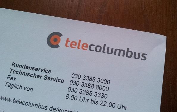 Tele Columbus Mahnungsbrief