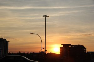East Side Galler im Sonnenuntergang