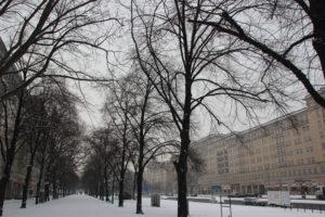 Bürgersteig Karl-Marx-Allee Winter