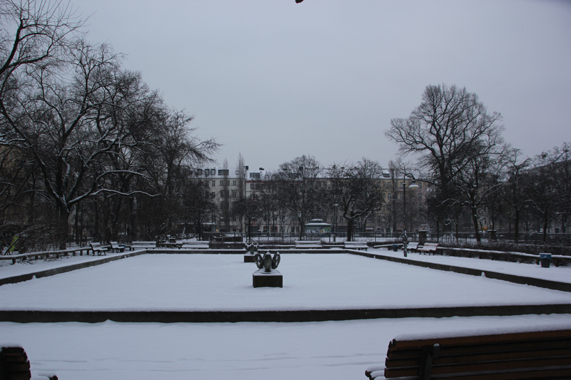 Boxhagener Platz Winter Friedrichshain