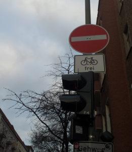Gärtner Straße Fahrradweg Schild