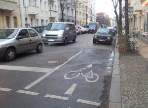 Realität Fahrradweg Gärtnerstraße