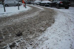 Schneematsch Friedrichshain