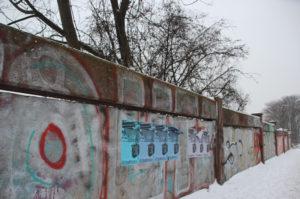 Wand entlang Helsingforser Platz