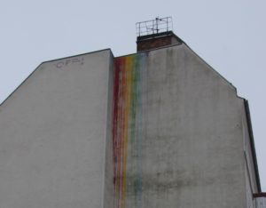 Regenbogen Streetart Friedrichshain