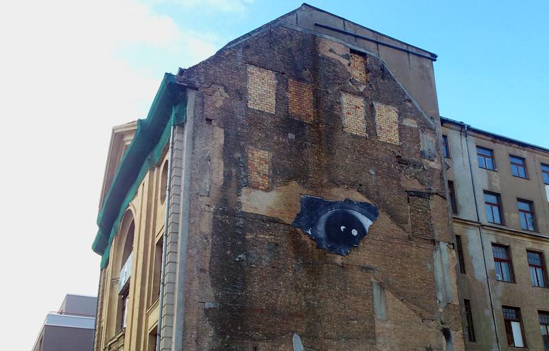 Wand mit Auge