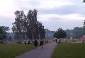 Rauchschwaden Volkspark Friedrichshain