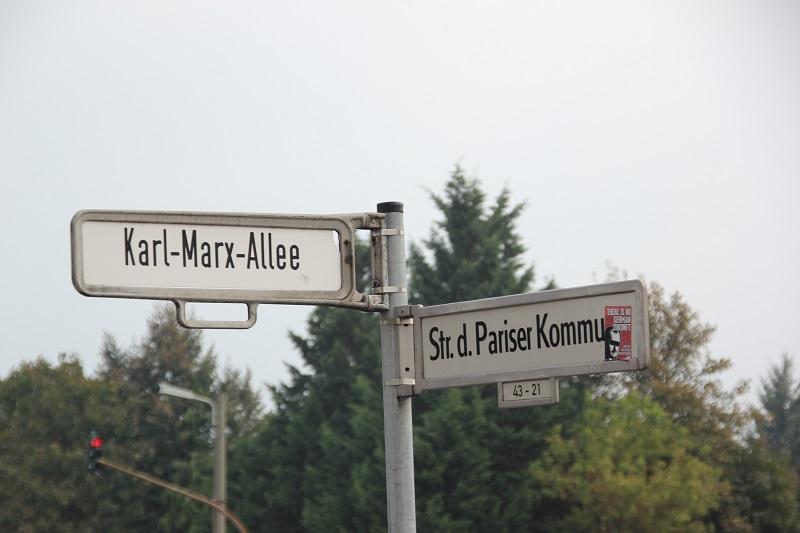 Strassenschilder KMA Str Pariser Kommune