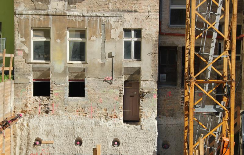 Baustelle Pettenkofer Strasse Friedrichshain
