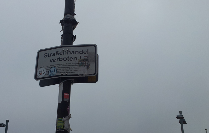 Strassenhandel verboten