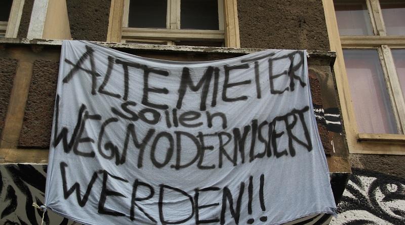 Miet-Protest in Friedrichshain