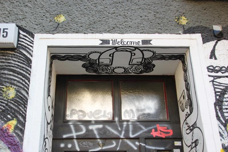 Willkommen Eingangstuer