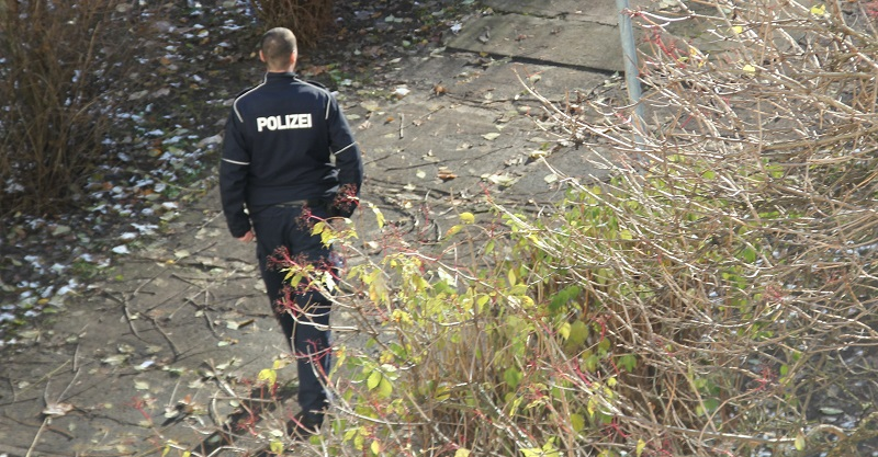 Polizei im Park