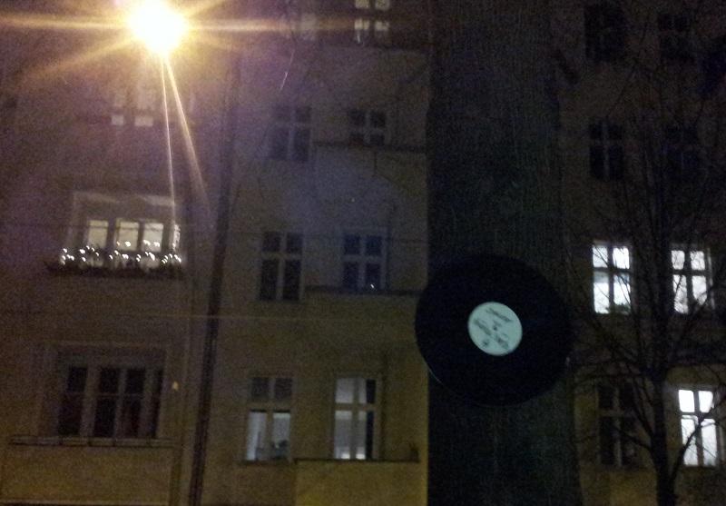 Schallplatte am Baum