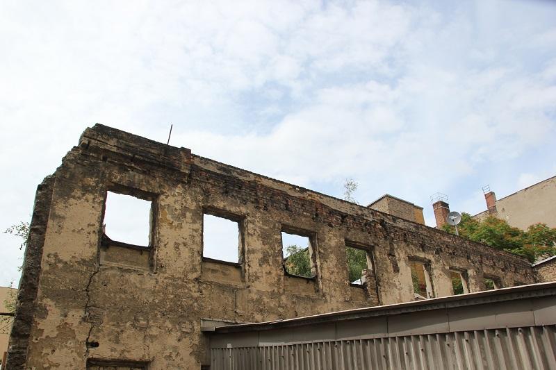 Freistehende Wand Rigaer Strasse