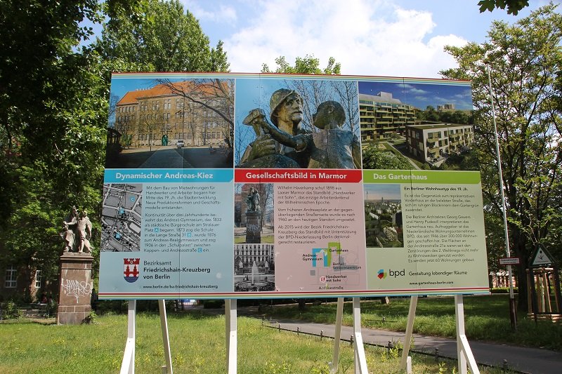 Infotafel Denkmal Friedrichshain