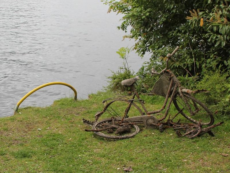 Rostige Fahrradkunst